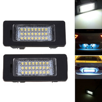 Wholesale Bmw E39 License Plate Light - Error Free 3528 SMD LED License Number Plate Light Lamps For BMW 1 3 5 Series E39 E60 E61 E90 E91 E92 Car Part