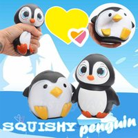 Wholesale 2017 New Arrival Jumbo Squishy Penguin Kawaii Cute Animal Slow Rising Sweet Scented Vent Charms Bread Cake Kid Toy Doll Gift Fun