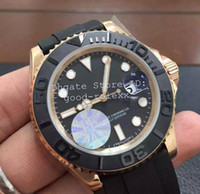 Wholesale Men S Automatic Mechanical Rubber - Luxury Superlative JF Factory V10 S Version Mens Automatic Eta 3135 Watch Men Ceramic Bezel Rose Gold 116655 Sport Rubber Waterproof Watches