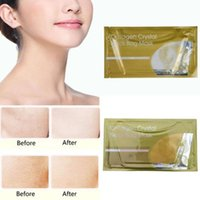 Wholesale Fast Sheets - Crystal Collagen Gold white Powder Neck Bag Mask Crystal Neck Mask Moisture Essence Top Quality 500Pcs DHL fast free