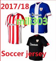 Wholesale Jersey Tops Free Shipping - Top thai quality 2017 2018 Athletic Bilbao jersey 17 18 Home away SUSAETA GURPEGUI MUNIAIN football jerseys shirt free shipping