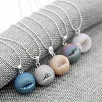 Wholesale Lip Necklace Jewelry - New Smile Mouth Natural Stone Pendant Necklace Lip Shape Colorful stone Christian Jewelry for women men