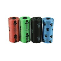Wholesale Dog Pet Poop Bags - Wholesale- 10Roll=150PCS Degradable Pet Dog Waste Poop Bag With Printing Doggy Bag LFY113