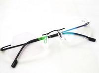 Wholesale Titanium Rimless Glasses Wholesale - High Quality Rimless Reading Glasses Ultralight Flexible Memory Titanium Frameless Reader 10pcs lot Free shipping