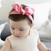 Wholesale Headband Small Girls - New Arrival Mini Small Bunny Rabbit Ears Headband Hair Rope Rubber Bands Baby Girls' Kids Cute hair Accessories