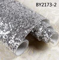 papel de parede glitter 3d venda por atacado-Atacado-30 metros 3D Chunky Glitter wallpaper bling Wallcovering Para Decoração de casa Pano de parede de alta qualidade