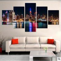 Wholesale wall beds more for sale - Modern Cityscape Painting Canvas Art HD Print Canvas Art Wall Picture For Bed Room Unframed No Frame Gift Oil Picture