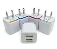 таблетка eu оптовых-Металлическое зарядное устройство Dual USB США Plug США 2.1A Адаптер переменного тока Зарядное устройство Plug 2 порта для Iphone Samsung Galaxy Note LG Tablet Ipad