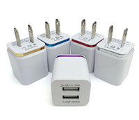 Wholesale Ipad Notes - Metal Dual USB wall Charging Charger US EU Plug 2.1A AC Power Adapter Wall Charger Plug 2 port for Iphone Samsung Galaxy Note LG Tablet Ipad