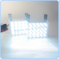 strobe leds Canada - 40 LED White Color Car Truck Flashing Strobe Grill Emergency Flash Strobe Light Lamp 2x20 LEDS