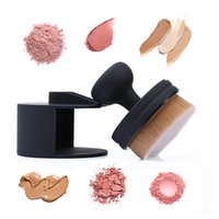 Wholesale Air Cosmetics - O! Circle Oval Brush Style Foundation Cosmetics Makeup Air Brush Loose Powder Synthetic Stamp Brush with Package