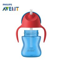 Wholesale Avent Baby Cup - AVENT 200ml 7oz BPA Free Cute Baby Straw Cups Kids Water Bottle Toddler Sippy Cup for 9 months+ Baby Travel School