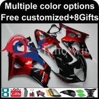 Wholesale Silver Blue Gsxr Fairings - red black motorcycle cowl for Suzuki GSX-R1000 2003-2004 03 04 GSXR 1000 2003 2004 03-04 ABS Plastic Fairing