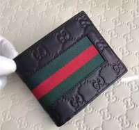 Wholesale Hot Males Leather - Hot sale! brand men short Wallet, classic fashion male patchwork purse with coin pocket &card holder with gift box