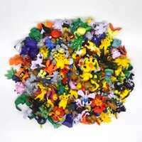 Wholesale 144pcs set Poke Go Figures Toys cm Multicolor Pikachu Cartoon Charizard Eevee Bulbasaur Suicune PVC Mini Model Toy Kids Christmas Toys