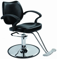 Salon black barber chair - Black Classic Hydraulic Barber Chair Styling Salon Beauty
