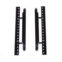Wholesale Metal Pedals Car - D90 CNC Metal Side Pedal Plate für 1:10th RC Car Crawler RC4WD D90 Schwarz