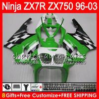 Wholesale 99 kawasaki ninja zx7r fairings online - 8Gifts Colors For KAWASAKI NINJA ZX7R HM10 ZX750 Stock green ZX R ZX R Fairing