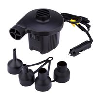 Wholesale Air Pump Camping - Free Shipping Air Pump Household Car Electric Air Inflatable Pump 60W AC DC Power Supply Toy Inflator for Camping Air Bed Boat