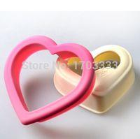 Wholesale Craft Sandwich Plastic Mold Cutter - 200PCS Pink Heart Sandwich Mold Bread Cake Mould Maker DIY Cutter Craft Bento Tool DHL Fedex Free Shipping