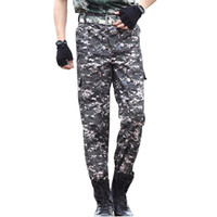 Wholesale Cheap Cargo Trousers Men - Wholesale- TG6336 Cheap wholesale 2016 new Men's cargo pants wear loose straight thin trousers camouflage more casual pants pocket