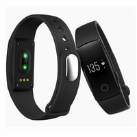 Neue Marke smart Uhr id 107 Smart Wristbands ID107HR 0.49 OLED Herzfrequenz Monitor Anti verloren Pedometer bluetooth Armband für Android iOS