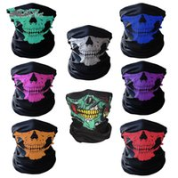 Wholesale Ghost Skeleton - Magic Headband Scarves Skull Skeleton Ghost Sports Cycling Motorcycle Headwear Headband Neck Bandana Face Mask halloween gifts