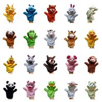 Wholesale Talking Hand Puppets For Kids - Wholesale- New Funny Toys Holiday Sale Lovely Speaking Animal Puppet Kids Love Hand Puppet Toys For Kids Talking Props Chirstmas Day Gifts