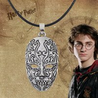 Wholesale Red Death Toy - Top Grade Movie Potter Death Eater Mask Pendant Necklace Gift for kids Men Women Cosplay Mask Harry Necklace Toy