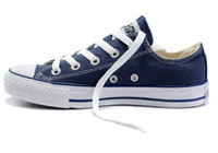 Wholesale women dress shoes for sale - Hot sell top Classical design men women low canvas shoes skateboard dress shoes