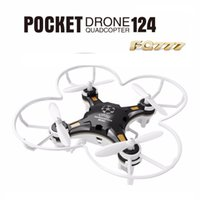 Wholesale Micro Metal Rc Helicopter - FQ777-124 Mini Quadcopter Micro Pocket Drone 4CH 6Axis Gyro Switchable Controller Mini quadcopter RTF RC helicopter Kids Toys