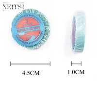 Wholesale Waterproof Double Sided Tape - Neitsi 1Roll 1.0cm * 3 Yards Waterproof Blue Double-sided Tape for Skin Weft Hair Extensions