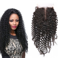 "Wholesale Lace Front Part Closure - Human Hair Afro Kinky Curly Lace Closure for Women Natural Hair Curly Lace Front Closures Can Bleached Knots 4""x4"" Lace Closures"