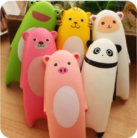 Wholesale rare soft toys - squishies kawaii rare mixed anime panda cat squishy squeeze toy with tags for kids gift soft handpillow