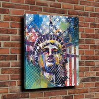 Wholesale Oil Painting Framed Abstract Building - Statue of Liberty Building I,Home Decor HD Printed Modern Art Painting on Canvas (Unframed Framed)