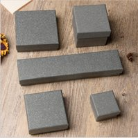 Wholesale Gray Kraft Paper - XS Gray Kraft Paper Watch & Necklace & Ring & Stud Earrings For Women Jewelry Packaging Gift Box Wholesale BZH021