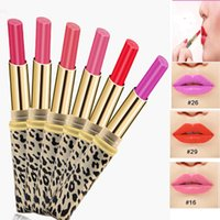 Wholesale Maquillage Leopard - Wholesale- 2016 New Leopard Matte Colors Lipstick Women Sexy Makeup Red Lip Gloss Lip Stick Beauty Maquillage