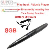 1gb mp3 musikspieler großhandel-Musik-Player MP3-Player-Sprachaufzeichnungsgerät w / time Stempel der aktivierten Batterie 20H des Musik-MP3-Recorders 8GB arbeitet Audiorecorderblitzspeicherspieler
