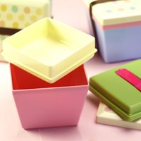 outdoor deck boxes - Cute cartoon children students lunch fruit salad double deck with fork office lunch outdoor picnic lunch box