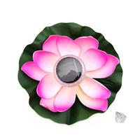 ingrosso lampade decorative di loto-Loto solare galleggiante LED lampada di loto colorata lampada decorativa piscina d'acqua
