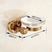 escova de vaidade venda por atacado-Eco-friendly Sanyangkaitai Series Antique escovado latão Saboneteira saboneteira Rede de Banho Acessórios Dishesdisk WC Vanity