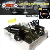 Wholesale Door Projectors - Good quality free shipping 12V 10W Car Door Projector Light 3D Welcome light for sline logo auto lamp car styling