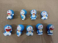 Wholesale Finish Cat - 9Styles Doraemon Cats 2017 Mini Action Figures Gashapon Gachapon Capsule Toys Mini Figuress Cute for children Christmas Gifts