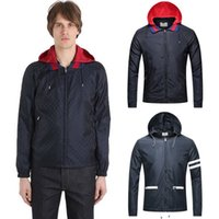 Wholesale Nylon Outerwear - 2017 Fashion Lightweight Jacket Men's Nylon Causal Full Zip Windbreaker Wear Man Detachable Hooded Outerwear Size 3XL