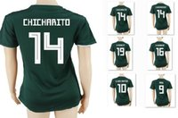 Wholesale Soccer Jersey Customized Yellow - 17-18 Mexico Women 14 Chicharito J.Hernandez Thai Quality Jerseys,Customized 19 O.Peralta Womens Soccer Jerseys shirts,11 C.VELA Soccer Wear