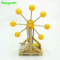 Wholesale Toy Wooden Ferris Wheel - Happyxuan Science Wooden Plastic Ferris Wheel Handmade Assemble Toys Material Kit Small Production Technology Experiment Models