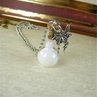 ingrosso lampadina di bottiglia-12pcs / lot Fairy Dust collana Fairytale Pixie Dust Fairies Charm Lampadario pendente bottiglia di vetro gioielli