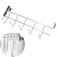 Wholesale Drawing Cabinets - Stainless Steel Bathroom Kitchen Organizer Hanger Hooks With 5-Hook Towel Hat Coat Clothes Cabinet Draw Door Wall Hooks