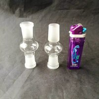 Wholesale 14 18 glass adapter resale online - Colored glass adapter mm mm double male and female glass Accessories for glass bongs