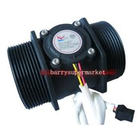 "Wholesale Water Flow Control Switch - Wholesale- 5pcs G2"" 2 inch Water Flow Hall Sensor Switch Meter Flowmeter Control 10-200L min DN50"